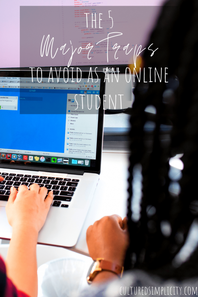 The 5 major traps to avoid as online Student pinterest pin