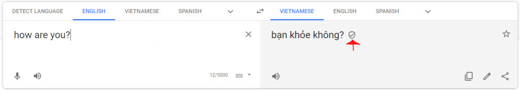 Google Translate Verified Translation