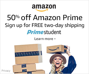50% off Amazon Prime Students