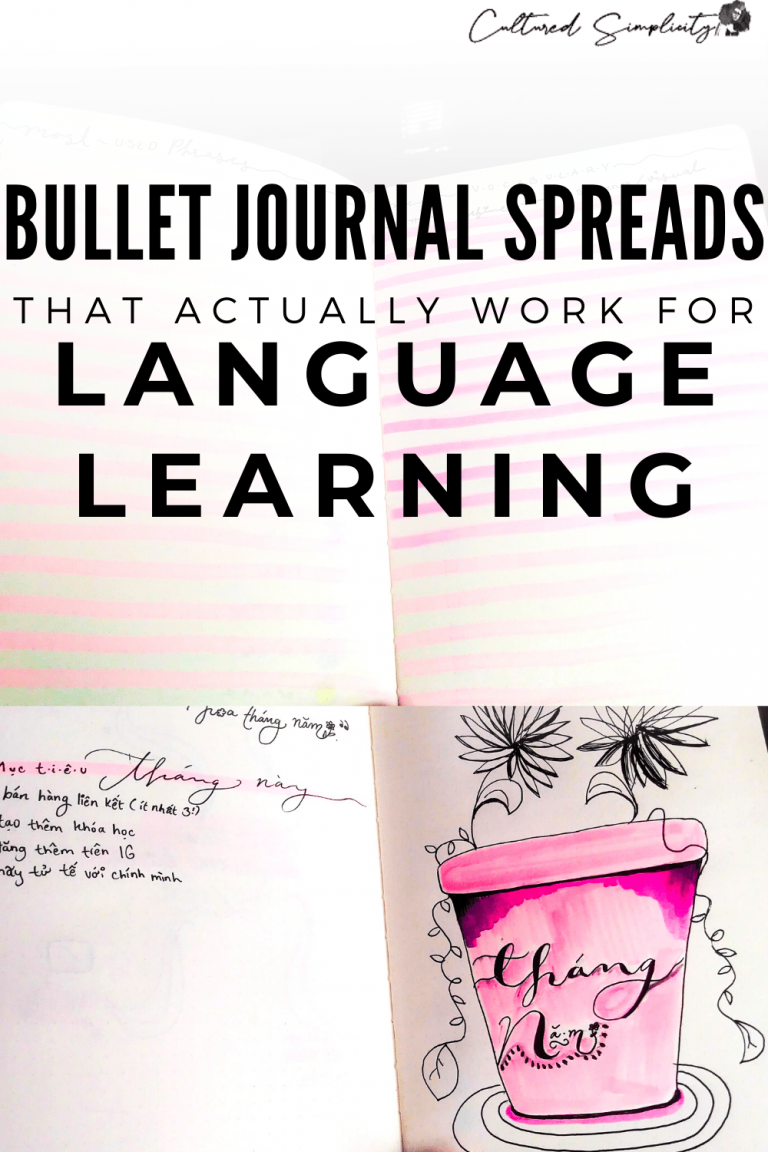 Bullet Journal Spreads that actually work for language learning (Video Course)