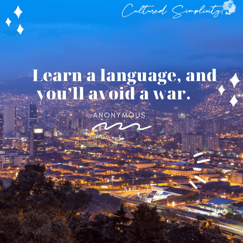 Motivational Quote for learning a language