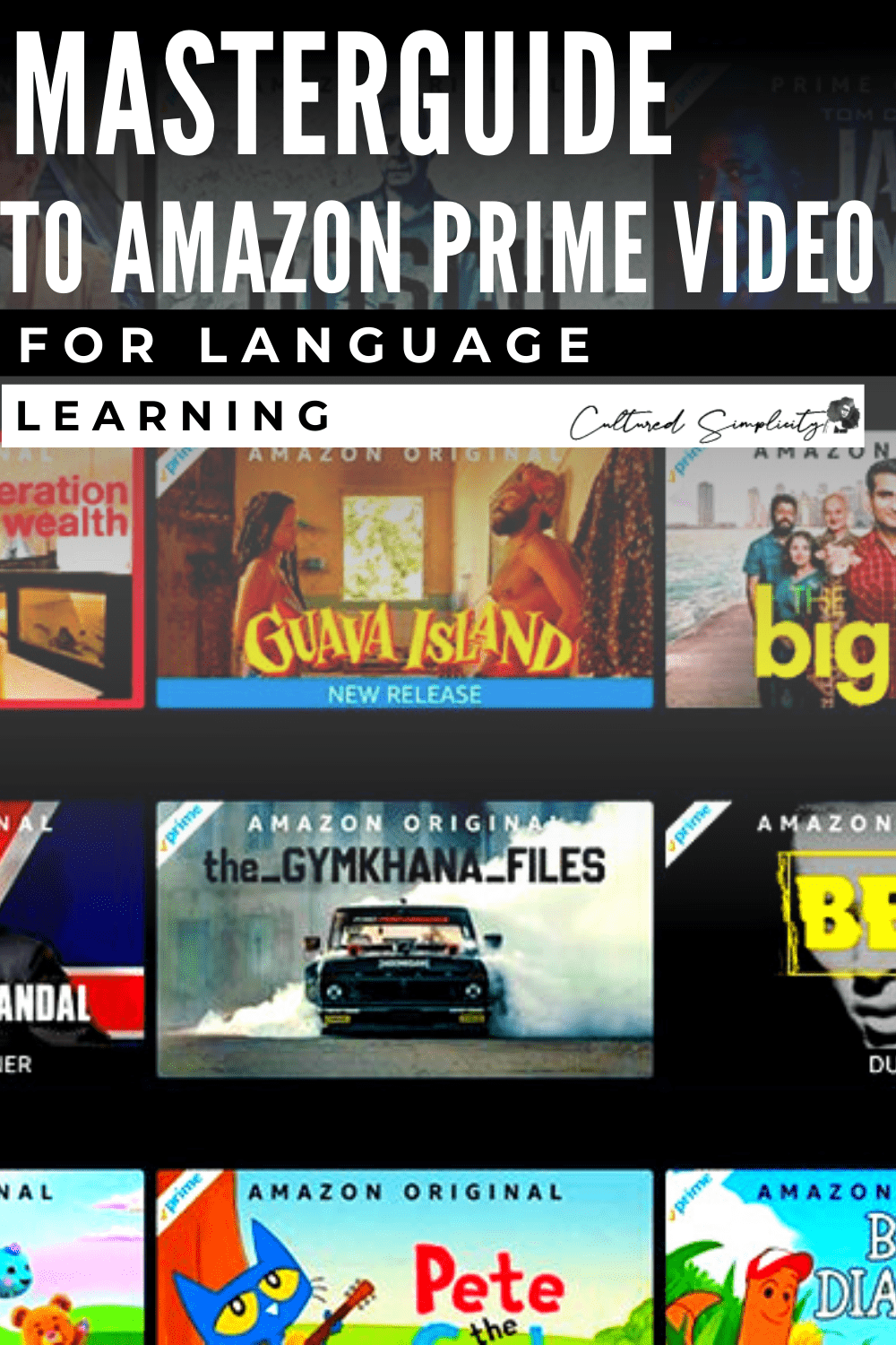 Master guide to Amazon Prime Video for Language Learning