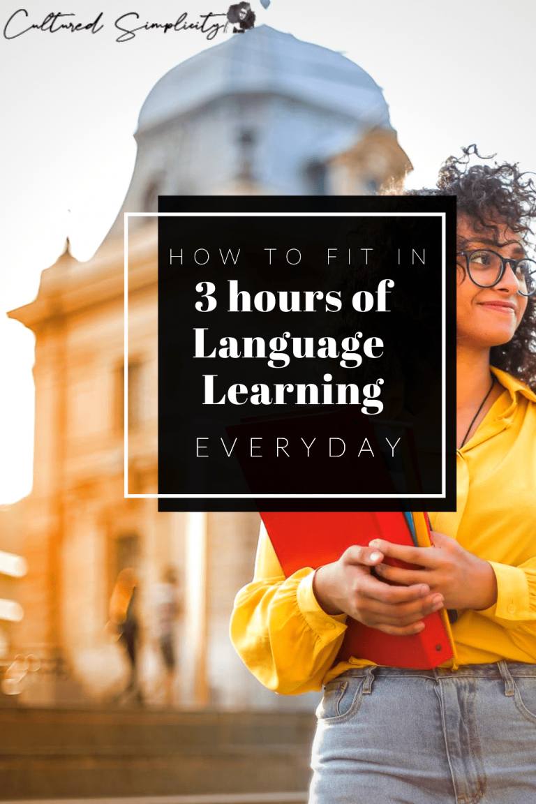 How to fit in 3 hours of language learning everyday