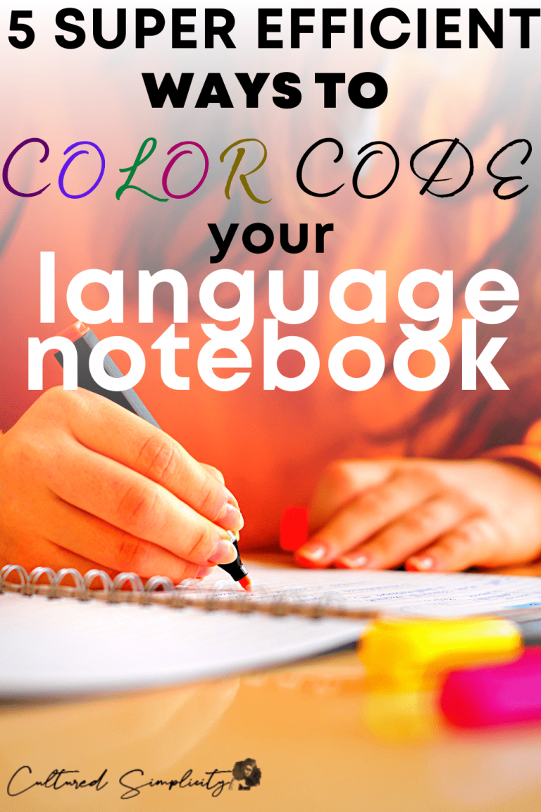 5 Super Efficient Ways to Color Code your Language Notebook