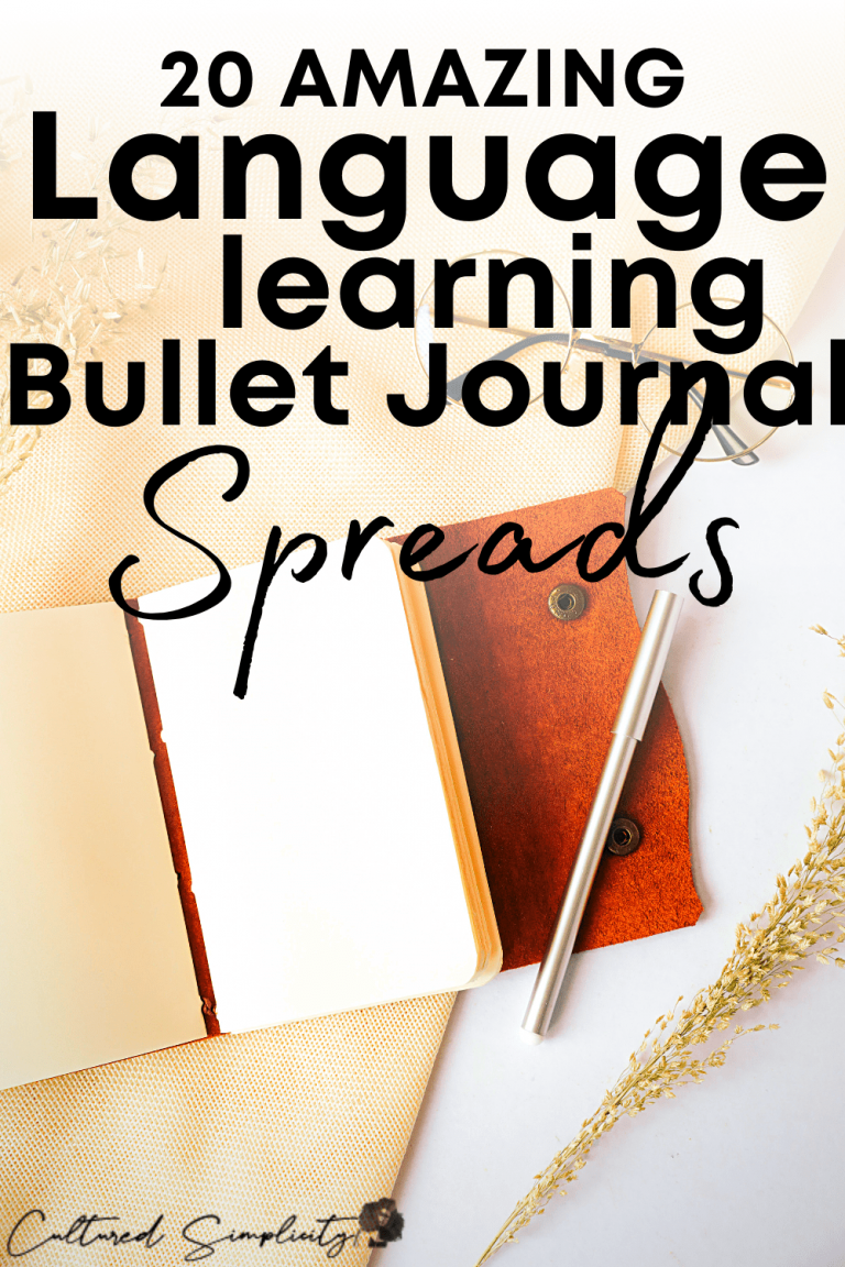 20 Amazing Language Learning Bullet Journal Spread Ideas