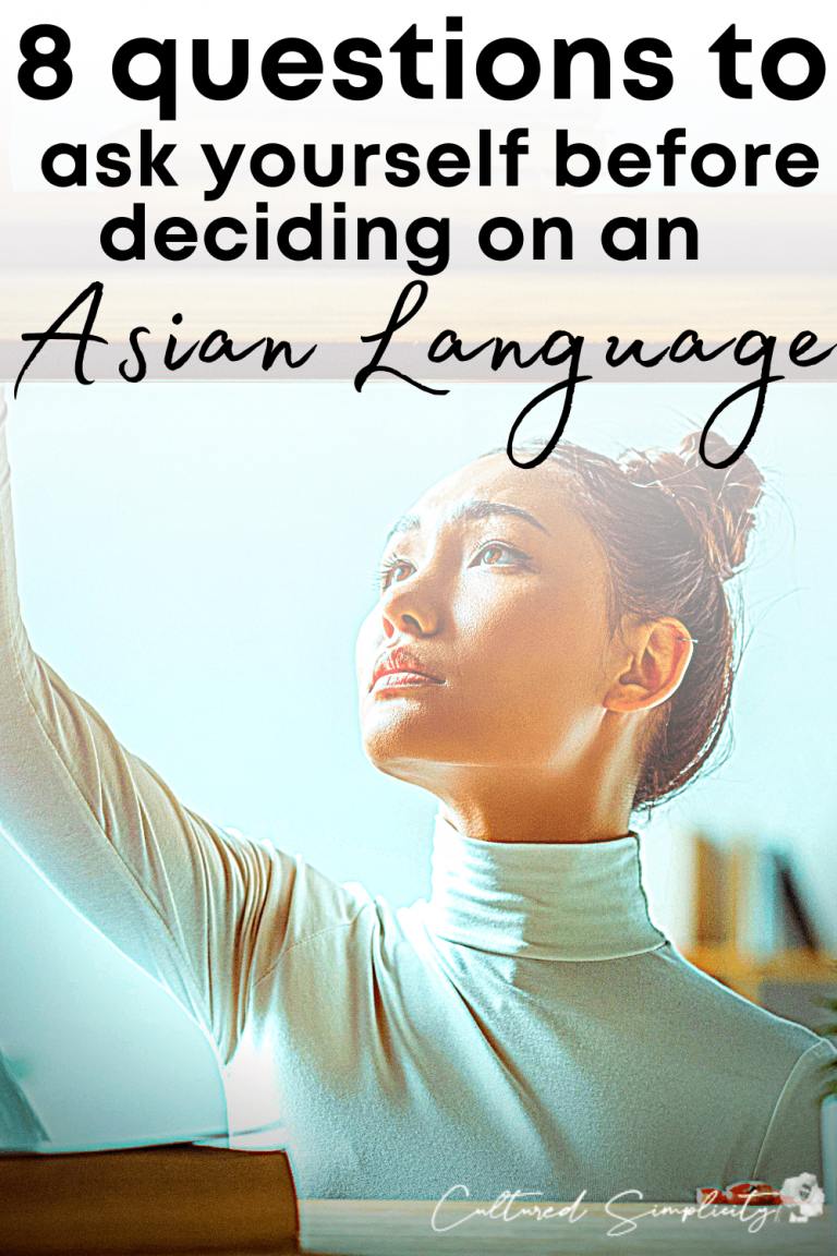 8 questions to ask yourself before deciding which Asian language to learn