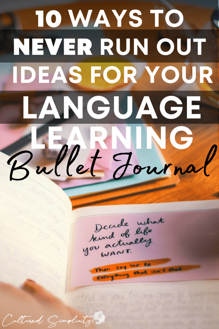 10 ways to NEVER run out of ideas for your language learning bullet journal