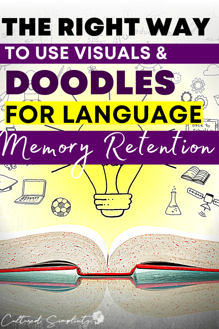 The right way to use visuals and doodles for language learning memory retention