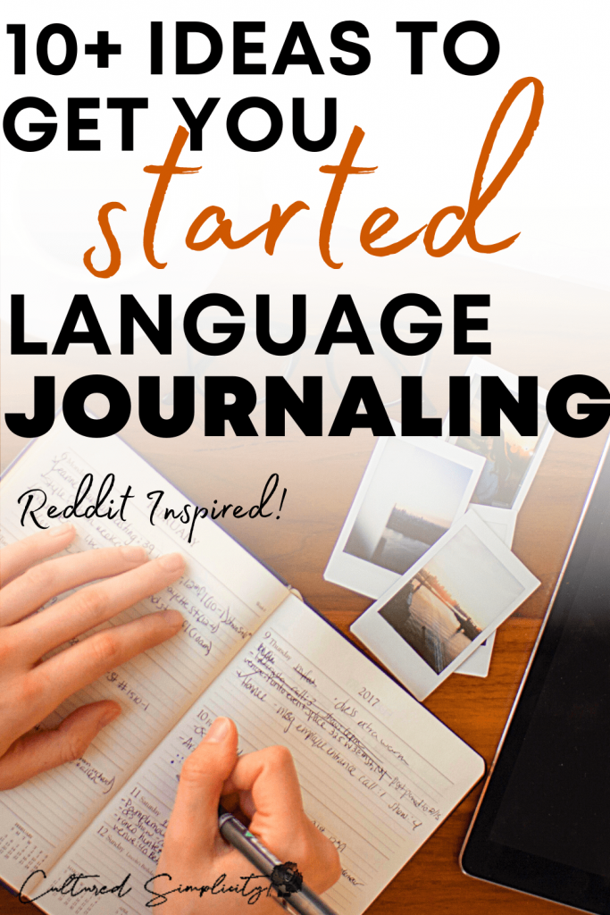 10+ writing ideas for your language learning journal