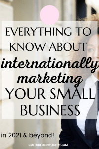 internationally market your small business