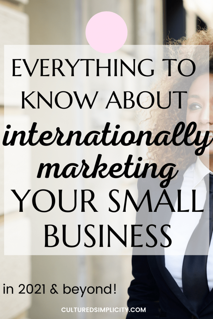 internationally marketing your small business